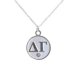 Delta Gamma Necklace- Silver
